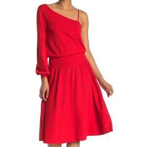 A.L.C. Shara One-Shoulder Midi Dress